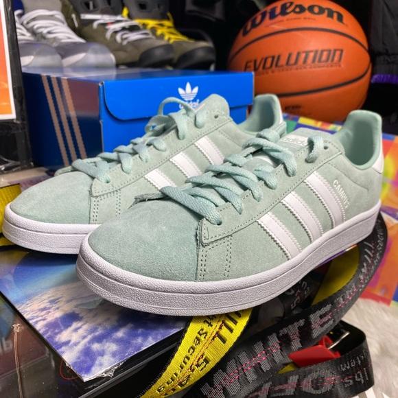 adidas Shoes | Campus Ash Green White